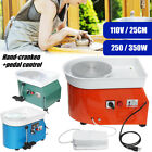 350W/250W Electric Pottery Wheel Ceramic Machine Foot Pedal Hand Control Clay image