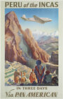 America, Peru of the Incas - Vintage Travel Poster 24x36