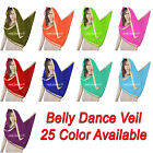 Indian Dupatta Belly Dance Costume Veil Chiffon Big Veil Gold Trim Scarf C21