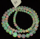 """AAA  Ethiopian Opal Smooth Round Beads 4-6.5mm  Opal Gemstone Necklace 16""""strand"""