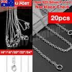 Wholesale New 925 Sterling Silver Filled 1mm Classic Chain Necklace For Pendants