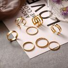 Women Ring Zinc Alloy Metal Geometric Round Rings Set Trendy For Party Weddings
