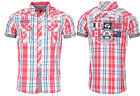 Geographical Norway Men's Checked short Sleeve T-Shirt Polo Club Zartar Slim Fit