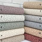 Ditsy Daisy 100% Craft Cotton fabric, vintage colours 112cm wide sold per 1/2 M