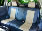 Leather Like Rear Split Zip Type Car Seats Covers for Dodge Black/Tan #255 $45.0 USD on eBay