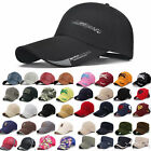 Mens Baseball Cap Adjustable Snapback Trucker Sport Visor Hip-hop Hat Fashion