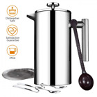 Topelek 34Ounce/8 Cups Cafetiere, French Press with Stainless Steel,Double Wall