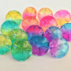 Twinkly rainbow buttons, very pretty, sold per 3  buttons choice of 3 colours
