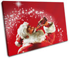 Vintage Coca Cola  Xmas Santa Food Kitchen SINGLE CANVAS WALL ART Picture Print £15.99  on eBay