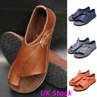 Womens Gladiator Casual PU Sandals Open Toes Summer Beach Flats Shoes Size 3-6.5