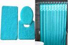 16PC COMPLETE BATHROOM SET PRINTED NEW DESIGNS BATH MAT LID COVER SHOWER CURTAIN