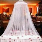 White Mosquito Net Canopy Fly Insect Protect Single Entry For Double King Bed image