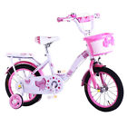 'Kidisa™ Childrens Girls Pink Bike Bicycle With Removable Stabilisers 14 Inch Uk