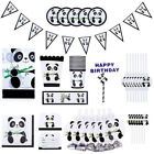 Decor Party Favors Happy Birthday Banners Tablecloth Popcorn Box Panda Theme