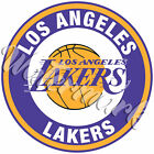 Los Angeles Lakers Circle Logo Vinyl Decal / Sticker 5 sizes!!