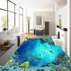 Shark Hill Bottom 3D Floor Mural Photo Flooring Wallpaper Home Print Decoration