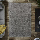 Large Sofa Shaggy Rugs Fluffy Marl Charcoal Non Shed Cheap Soft Living Room Rugs