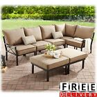 Sectional Sofa Set Outdoor Patio Garden Backyard Furniture Chair Ottomans Couch