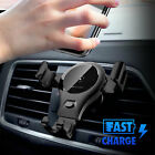 Fast Automatic Clamping Wireless Charging Charger Car Mount For iPhone 8 Galaxy