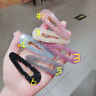 Korea Shiny Acetic Acide Hair Clips Solid Acrylic geometrical Waterdrop Hairpin
