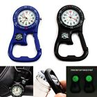 Clip-On Carabiner Luminous  Backpacker FOB Watch Microlight With Compass image