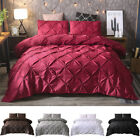 Luxury Pinch Pleat Pintuck Comforter Duvet Quilt Cover & Pillow Sham Bedding Set image