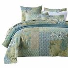 Newlake Bohemian Floral Pattern Bedspread Quilt Set With Real Stitched Embroider
