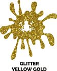 "12"" Yellow Gold Glitter Heat Transfer Vinyl for Shirts - Iron On HTV Flake"