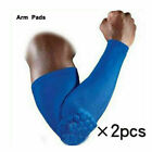 2 PCS Honeycomb Sport Anti Slip Protector Elbow Arm Sleeves Brace Support Pads