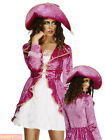 Ladies Fever Pirate Costume Adult Caribbean Fancy Dress Wench Sexy Womens Outfit