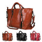 Women Soft Oiled Leather Handbag Messenger Shoulder Tote Bag Crossbody Satchel image