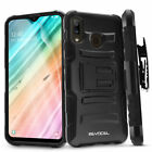 Samsung Galaxy A20 Rugged Phone Case with Screen Protector and Holster - Evocel