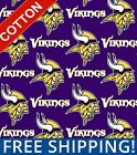 "Minnesota Vikings NFL Cotton Fabric - 60"" Wide - Style# 6456 - Free Shipping!! $15.95 USD on eBay"