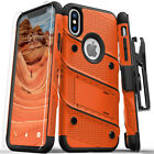 Zizo Bolt Series Military Grade Tough Case with Glass for Apple iPhone X / XS