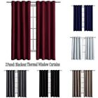 Kyпить Blackout Window Curtains 2 Panel Drape Set Thermal Insulated Room Grommet US на еВаy.соm