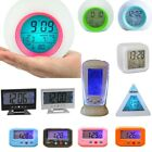 Battery Operated LCD Display Digital Smart Alarm Clock Snooze Light Temperature