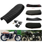 Flat Hump Brat Seat Cafe Racer Cushion Saddle For Honda CB Yamaha SR Suzuki GS $49.2 USD on eBay