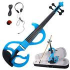 4/4 Student Electric Silent Violin Set with Rosin Bow Case Headphone Line
