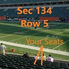 AWESOME BENGALS VS. PITTSBURGH STEELERS TICKETS ! LOWERS ! ROW 5 !!!