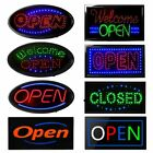 Square/Oval LED OPEN Animated Motion Business Sign Bright Neon Lights Store Shop