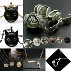 Women Stainless Steel Necklace Pendant Crystal Chain Choker Jewelery Lots Styles