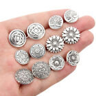 10X Pattern Metal Ancient Silver Shank Sewing Coat Button DIY Clothing Accessory