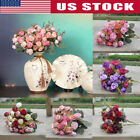 42-head Artificial Rose Bouquet Silk Fake Flowers Wedding Party Home Decoration