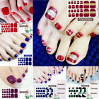 Toe Nail Stickers Fashion Wraps Cover Adhesive Sticker Manicure Decals Decor $0.75 USD on eBay