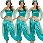 UK Aladdin Costume Princess Jasmine Cosplay Outfit Womens Halloween Fancy Dress