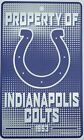 """NFL Indianapolis Colts Wincraft 7.25"""" X 12"""" Plastic """"Property Of Sign"""" NEW! on eBay"""