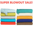 Soft Warm Knit Throw Blanket Sofa Settee Couch Cover Solid Color w/ Fringe Home image