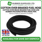 Classic Car Cotton Over Braided Rubber Fuel Hose Pipe Petrol Diesel Overbraid