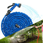 Deluxe 50 75 100 Ft Expandable Flexible Garden Water Hose Blue Watering Car Wash