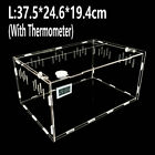 Acrylic Reptile Cage Transparent Breeding Box Lizard Snake Amphibian Feeding Box